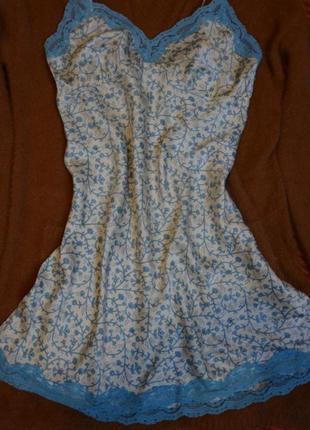 Ночная рубашечка,расцветки прованс из нежного шелкового полотна