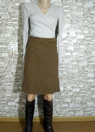 Базовая шерстяная юбка горчичного цвета  итальянской фирмы марина яхтинг