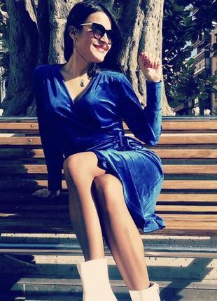 Платье миди на запах от zara