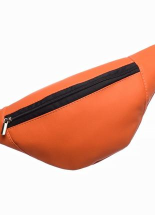 Маленькая женская бананка сумка на пояс плече оранжевая