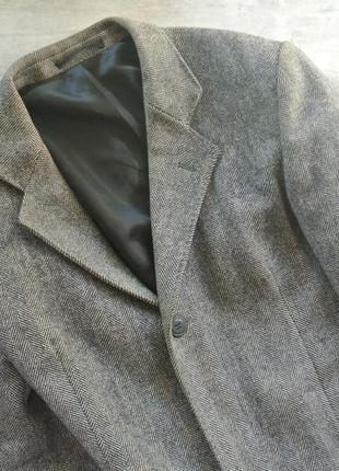 Мужское шерстяное пальто серое шерсть
