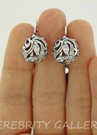10% скидка - подписчикам! красивые серьги серебряные. i 200097 w серебро 925
