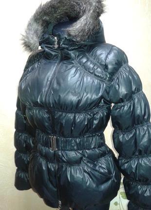 Пуховик adidas down jacket faux fur trimmed оригинал распродажа2 фото
