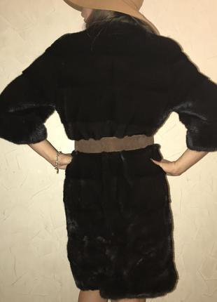 Шуба black napa норка