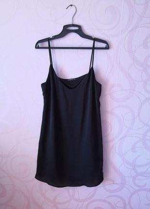 Черное короткое платье в бельевом стиле, мягкое платье-мини на выпускной, новый год