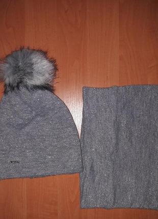 Набор шапка + снуд тм agbo польша