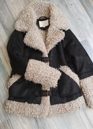 Стильная дубленка куртка шуба барашек