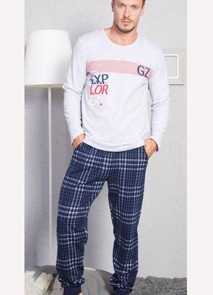 Тёплые пижамы gazzaz р. m, l, xl байка