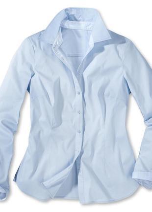 Рубашка голубая размер 46 наш tchibo тсм