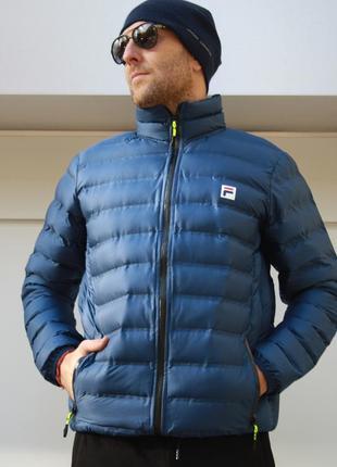 Куртка мужская легкая  fila синяя