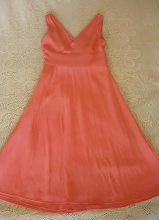 Платье без рукаквов,100% шелк,размер s