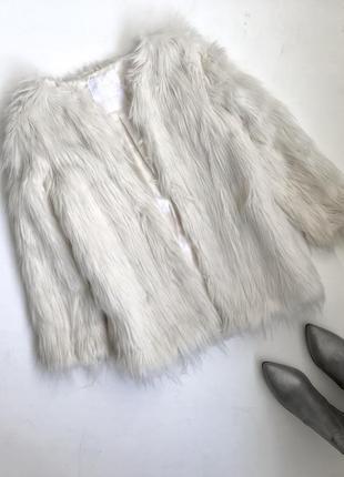 Торг! полушубок белая короткая шуба/меховое болеро пелерина/свадебная зимняя айвори лама
