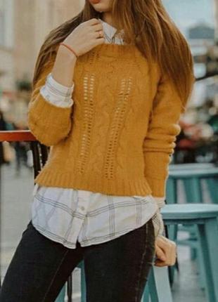 Теплый уютный женский свитер