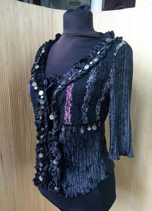Блуза с монетами в стиле трайбл