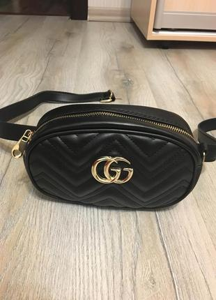 Бананка /сумка через плечо / сумка на пояс черная