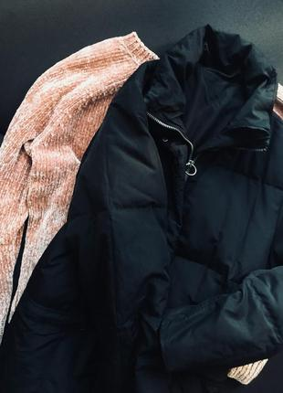Подовжена куртка 🖤 хл