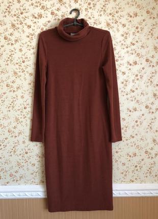 Сильное тёплое мягкое платье миди от vero moda