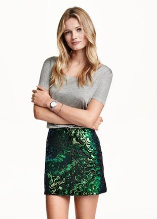 Новая шикарная юбка в пайетки от h&m