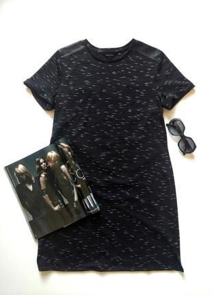 Черное стильное платье new look