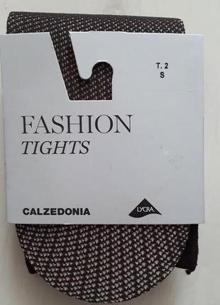 Колготки calzedonia fashion tights сетка шоколад