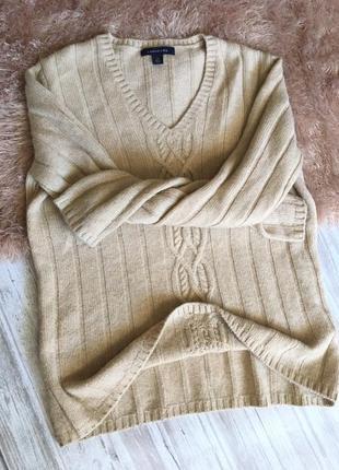 Кашемировый бежевый свитер 100% кашемир