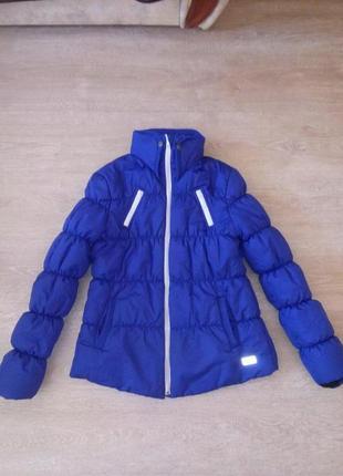 Куртка, мега уютная дутая курточка на флисе, tom tailor,потайной капюшон