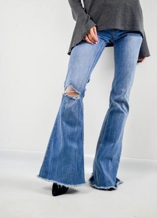 Tally weijl расклешенные джинсы с необработанными краями и рваностями