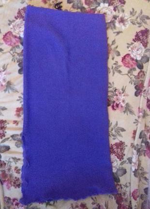Длинная теплая юбка в пол на резинке 42-44