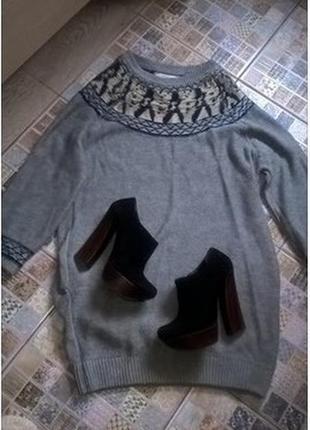 Трикотажное платье шерсть шелк vanessa bruno