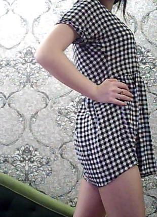 Платье в клеточку фирменное