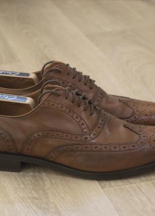 Roland cartier мужские кожаные туфли броги кожа оригинал осень