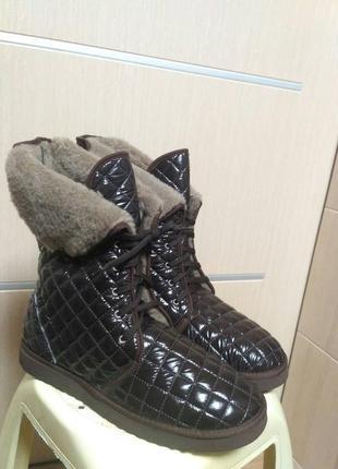 Стеганные ботинки сапоги угги inblu инблу. р. 40, 41