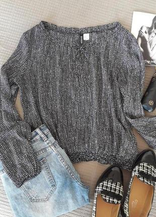 Актуальная шифоновая блузка h&m размер s