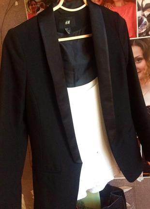 Чёрный пиджак ( жакет) h&m