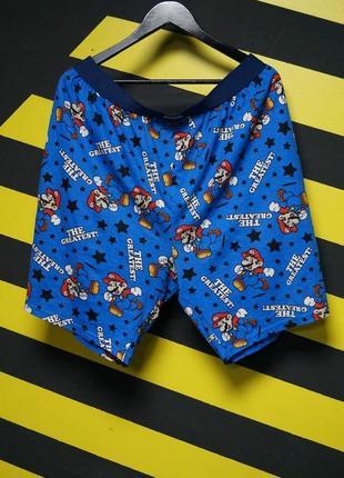Пижамные шорты с принтом марио (super mario)