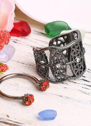 Набор винтажных колец, массивное кольцо