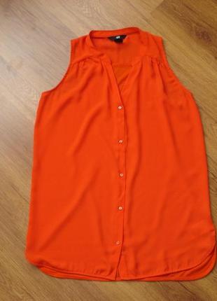 Блуза без рукавов, h&m, р.xs