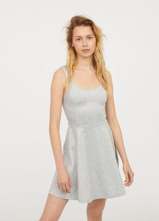 Базовое крутое платье серый меланж размеры в наличии xxs xs s