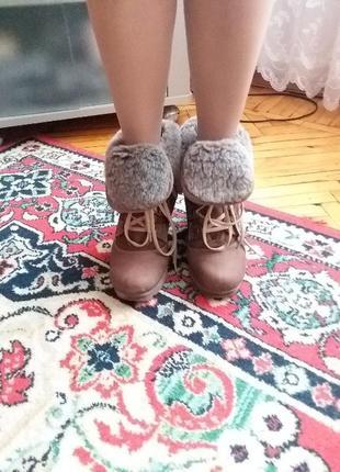 Зимние ботинки на натуральном меху