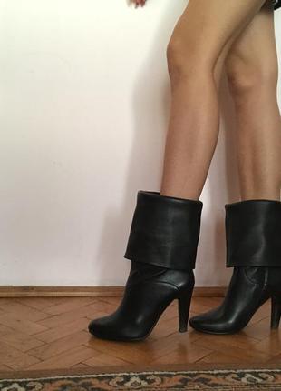 Сапожки ботинки кожа