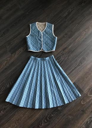 Костюм, юбка с жилеткой