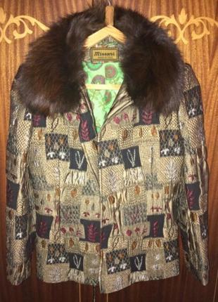 Шикарные куртка пальто с мехом