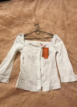 Шикарная белая блузка рубашка