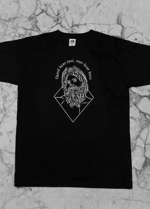 """Черная футболка с авторским принтом """"jupiter"""""""