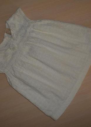 Белая нарядная блузка, блуза туника tu  12-18 мес 80-86 см, оригинал