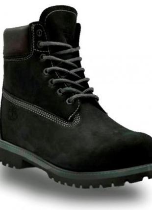 Зимние черные мужские ботинки тимберленд  натуральный мех и кожа 36-45р