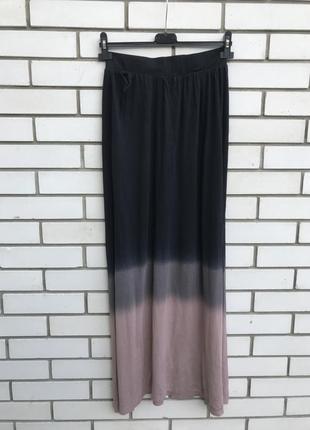Длинная,тонкая,трикотаж юбка- омбре,вискоза,бохо,,индия salt rock,брендовая
