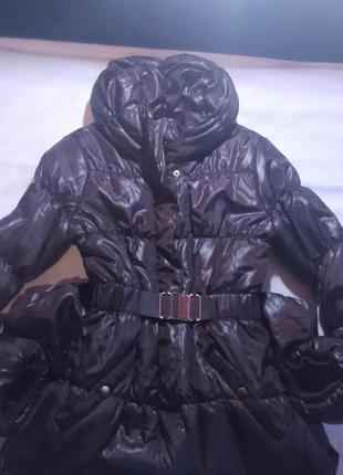 Пуховик пальто стильное объемное