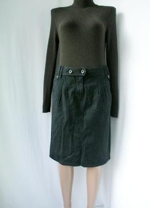 Стильная брендовая юбка mexx в полоску. размер uk10/38 (m/l).
