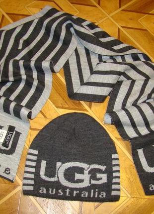 Комплект ugg australia( шапка +шарф)